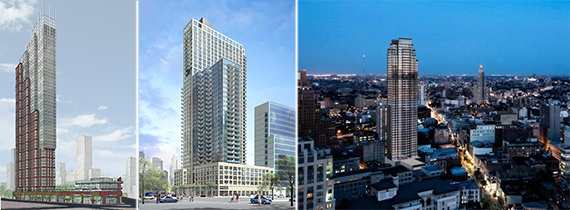 The Hub in Downtown Brooklyn, Linc LIC in Long Island City and 388 Bridge Street in Brooklyn