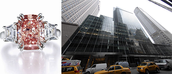 From left: a Harry Winston diamond and 717 Fifth Avenue