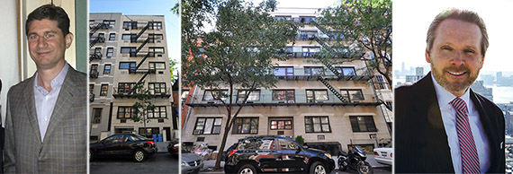 From left: Trevi Retail CIO Johnny McCarthy, 404 East 88th Street, 336 East 81st Street and Bob Knakal