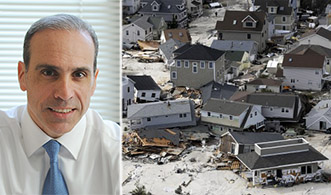 From left: James Oddo and Sandy damage in Staten Island
