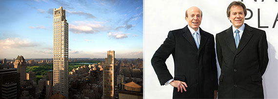 From left: 520 Park Avenue and William and Arthur Zeckendorf