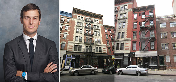 From left: Jared Kushner, 170 East 2nd Street and 174 East 2nd Street