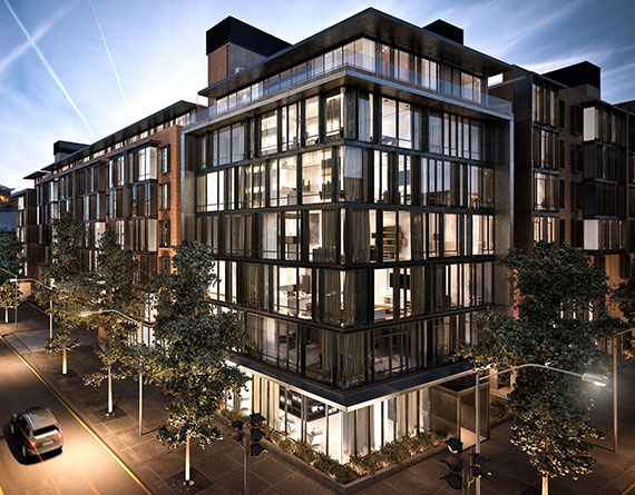 Rendering of the Oosten at 249 Kent Avenue in Williamsburg
