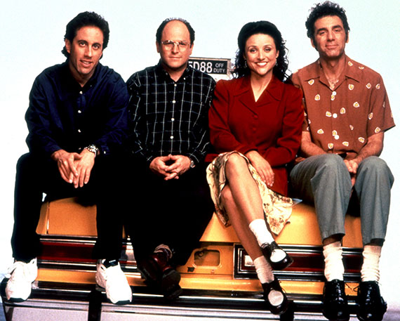 "From left: ""Seinfeld""'s Jerry Seinfeld, Jason Alexander, Julia Louis-Dreyfus and Michael Richards"