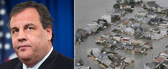New Jersey Gov. Chris Christie and the state's coast following Superstorm Sandy