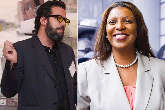 From left: Macro Sea's David Belt and Public Advocate Letitia James