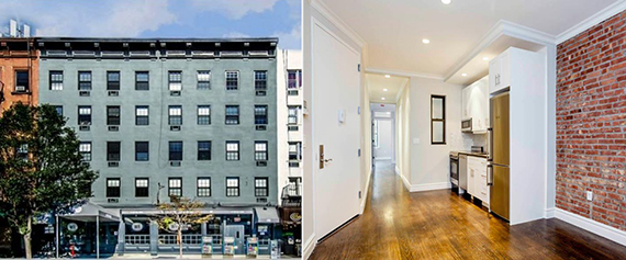 The building at 1703-1705 Second Avenue, and inside a renovated apartment