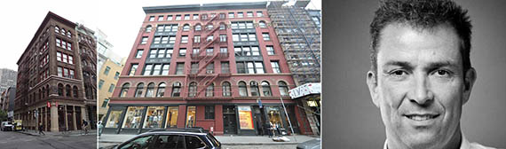 From left: 125 and 127 Prince Street, Soho, Manhattan and Lululemon CEO Laurent Potdevin