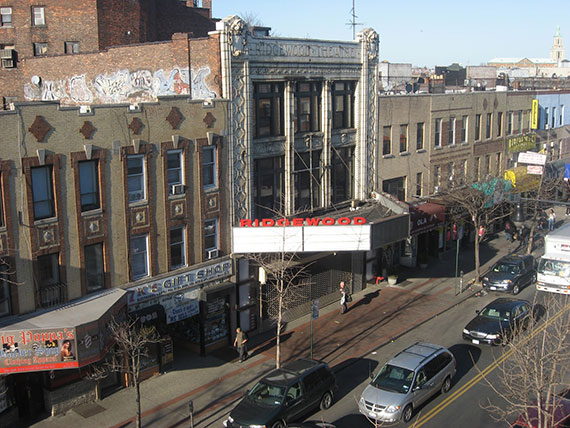 Ridgewood Theater on Myrtle Avenue, a main commercial drag in the Queens neighborhood