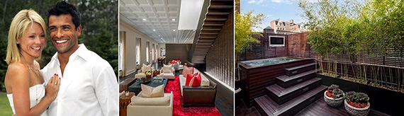 kelly ripa, mark consuelos and images of their 76 crosby street listing