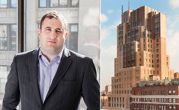 From left: Michael Stern and the Walker Tower on West 17th Street in Manhattan