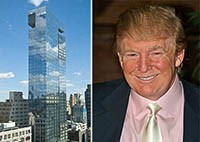 From left: Soho Trump Hotel and Donald Trump