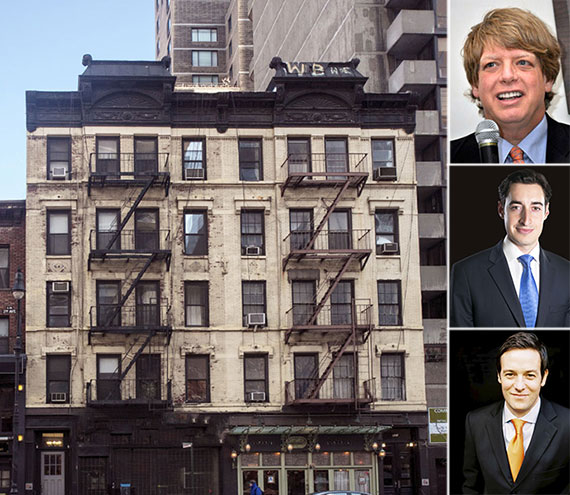 Clockwise from left: 928-930 Second Avenue, Lloyd Goldman, Joe Koicin and Peter von der Ahe