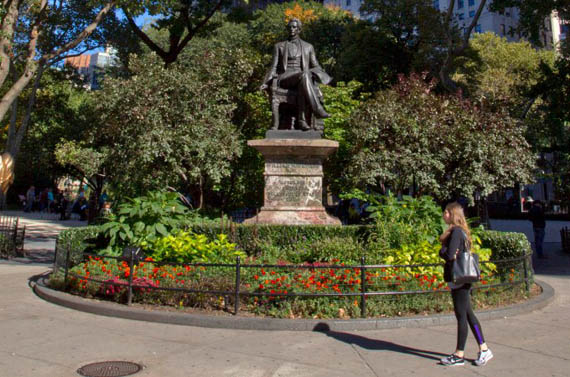 Bodies are buried in Madison Square Park