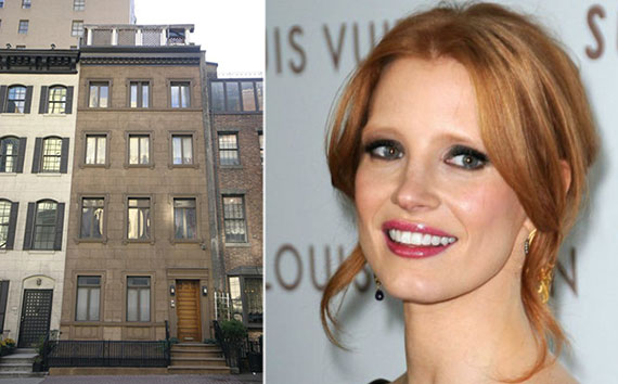 From left: 130 East 38th Street and Jessica Chastain
