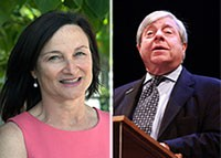 From left: Regina Myer and Marty Markowitz