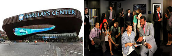 Barclays Center and a luxury suite