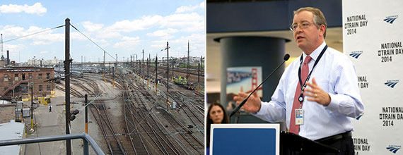 From left: Sunnyside Yard in Queens and Anthony Coscia