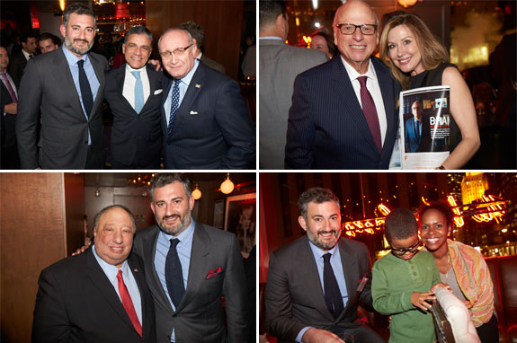 Clockwise from left: Amir Korangy with Joseph Moinian and Bruce Mosler; Howard Lorber with guest;  and Amir Korangy with John Catsimatidis