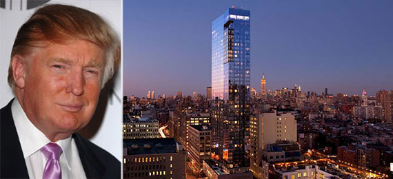 From left: Donald Trump and the Trump Soho
