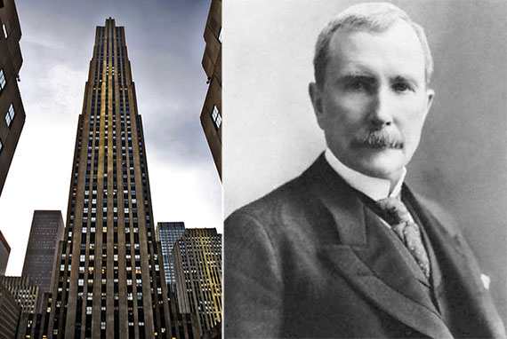 From left: 30 Rockefeller Plaza and John D. Rockefeller