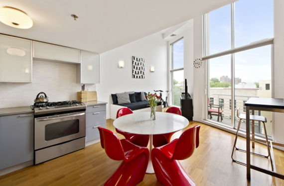 A one-bedroom unit at 888 Fulton Street in Clinton Hill that's asking $2,850