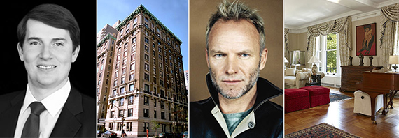 From left: Kyle Blackmon, 88 Central Park West, Sting and Unit 2/3S