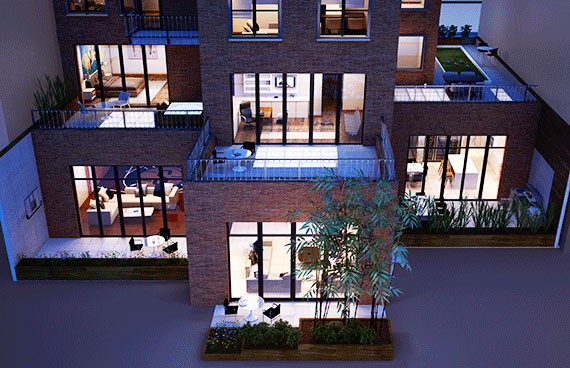 A rendering of 15 Leonard Street in Tribeca