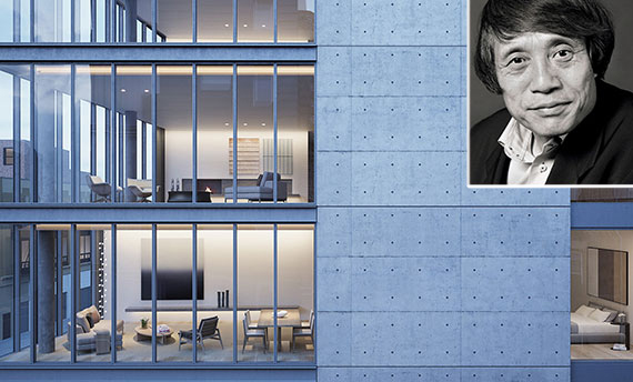 From left: rendering of 152 Elizabeth Street and Tadao Ando