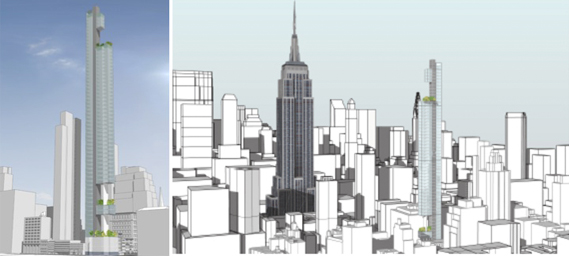 281 Fifth Avenue in NoMad massing diagrams