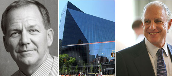 From left: Paul Tudor Jones II, 51 Astor Place and Edward Minskoff
