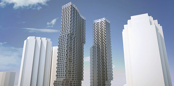 Prior plans for the tower at 99 Hudson Street in Jersey City