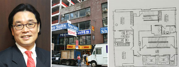 From left: Neo Yau Que, 118 East 59th Street and a floor plan of the penthouse