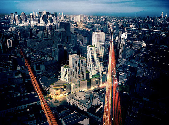 Rendering of City Point Towers in Downtown Brooklyn