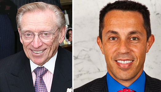 From left: Larry Silverstein and Tal Kerret