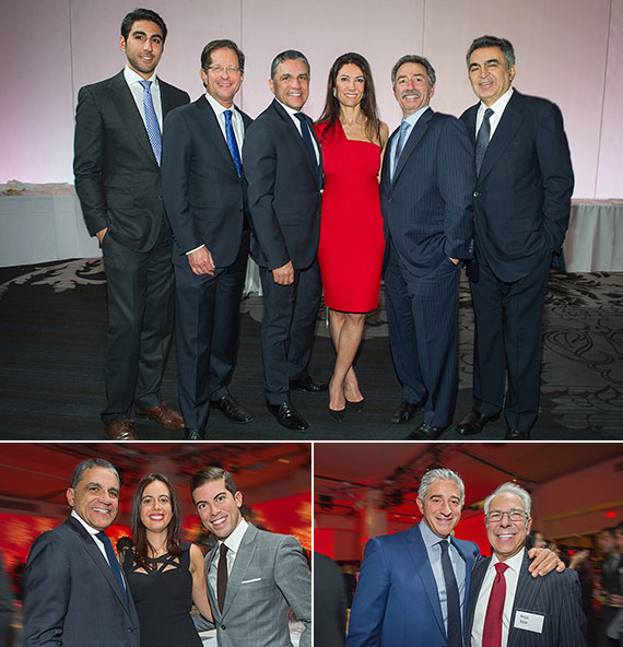 Clockwise from top: Matthew Moinian, Rob Sorin, Joseph Moinian, Nazee Moinian, Jonathan Mechanic and Morad Ghadamian; Bradley Gerla and Mitchell Arkin; and Joseph Moinian, Natasha Vardi and Luis Ortiz