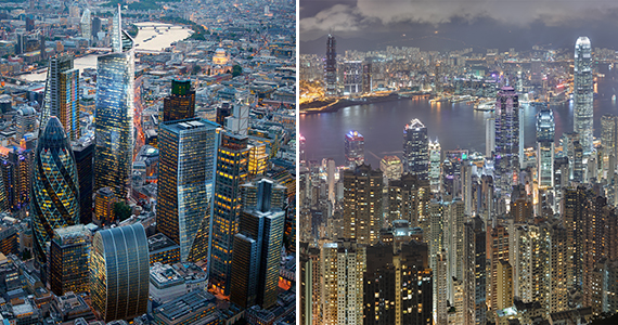 London and Hong Kong