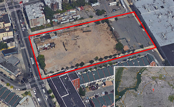 Simon Dushinsky's Bushwick development site at 10 Montieth Street