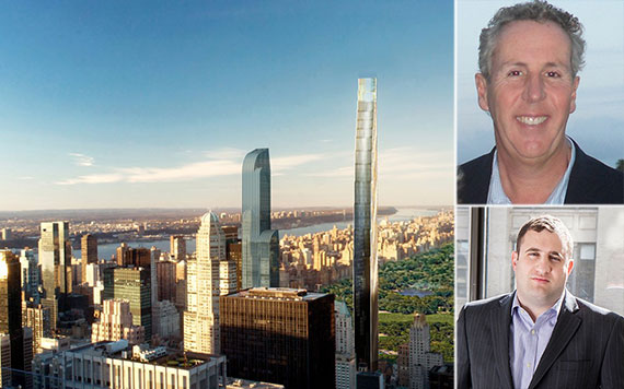 Clockwise from left: 111 West 57th Street, Kevin Maloney and Michael Stern