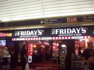 The TGI Friday's in Penn Station
