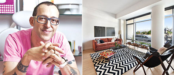 From left: Karim Rashid and the townhouse at the Edge