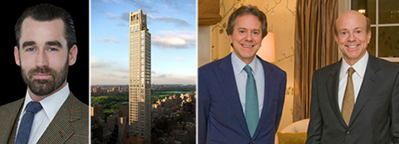 From left: Louis Buckworth, 520 Park Avenue and William and Arthur Zeckendorf