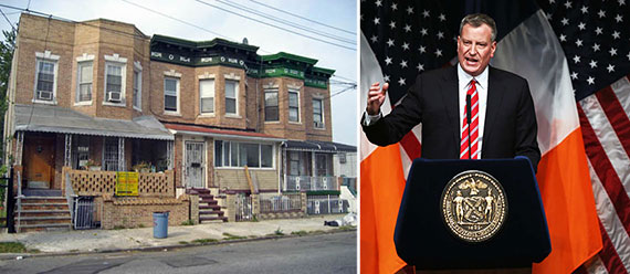 From left: East New York and Bill de Blasio