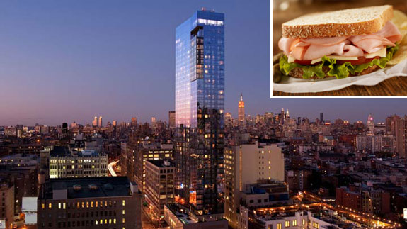 The Trump Soho and a turkey sandwich