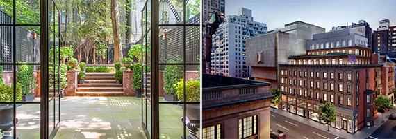 From left: 278 West 11th Street and a rendering of 33 East 74th Street