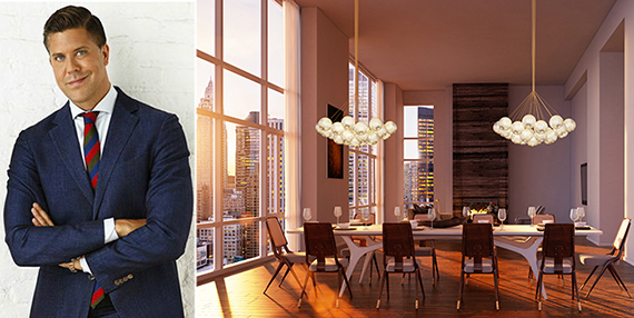 From left: Fredrik Eklund and a rendering of the penthouse