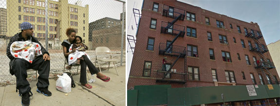 A homeless family and 1016 East 174th Street in the Bronx