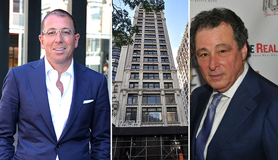From left: Joseph Sitt, 212 Fifth Avenue in Nomad and Robert Gladstone