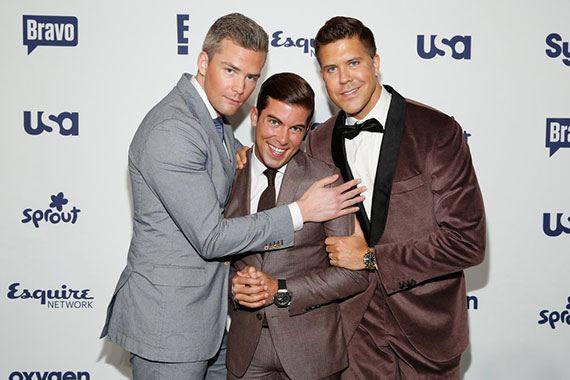 From left: Ryan Serhant, Luis Ortiz and Fredrik Eklund