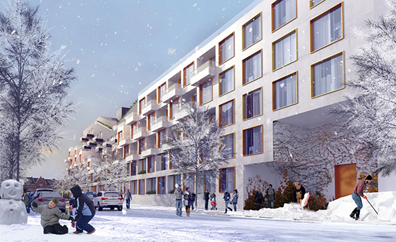 A rendering of 10 Montieth Street (credit: ODA Architecture)